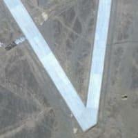 中国が訓練のために再現した地上図は嘉手納基地ではなく台湾の台中国際空港に似ている