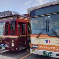 熱海市内を循環する「湯~遊~バス」レトロ車両「彩(いろどり)を見学しました。