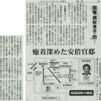 #akahata 癒着深めた安倍官邸/関電 腐敗構造を問う㊦・・・今日の赤旗記事