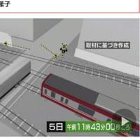 京急線事故 事故まで5分間 トラックが繰り返し踏切進入試みる