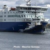 Breakaway ferryがカナダのトロワリビエールの底に接触