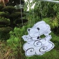 庭にパンダ飛天が!と言いつつこの年齢最後の日