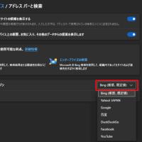 Microsoft Edgeの検索をBing以外に変更したぁ~い!?