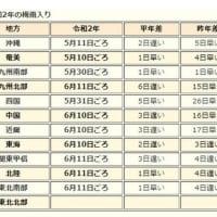 大阪は、6月10日から梅雨入り
