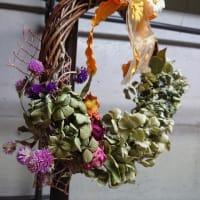 【閑話】紫陽花のリースをつくってみました