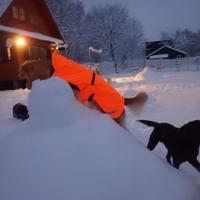 除雪♪雪だるま♪オレの雪♪