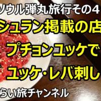 ☆★2019韓国ソウル弾丸旅行その4 ミシュラン掲載の店 プチョンユッケでユッケ・レバ刺し・センマイ刺しを食べたら激美味だった!!・・・YouTubeに動画UPしました