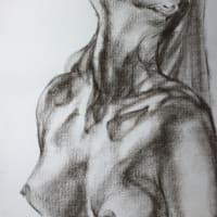 Nude-Muse-angel-Tableau-ヌード-芸術-アート-絵画:祈り