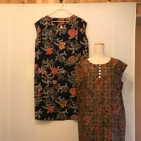 インドネシアバティクでワンピース・・・夏服一枚縫って、一枚処分