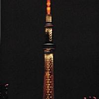 昨夜の東京スカイツリー(2020/2/20)