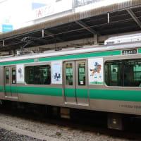 JR埼京線五輪ラッピング車