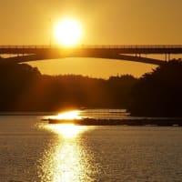 賢島大橋の夕陽