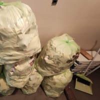 【クロス剥がし】作業完了...可燃ごみ袋は8袋