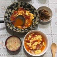 今日の一品 粉物シリーズ第二弾 西红柿鸡蛋面条(シーホンシージーダンミィエン、トマト卵麺)