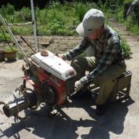耕耘機のベルトを交換