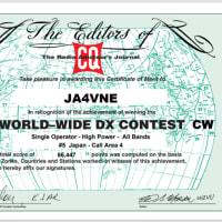 2020 CQ WW DX Contest  CW 参加証
