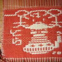 干支の寅織りあがりました。