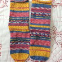 手編み靴下 作品NO.280・281