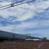本日大阪東住吉区駒川上空意味深地震雲。どんなけったいなことが近々起こるのでしょうか。