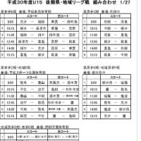 後期リーグ戦の組み合わせ(1/27)