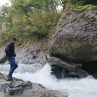 雨のためジンベエザメ君と岩探しの旅