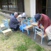 '19.04.21 風工房で、椅子作り