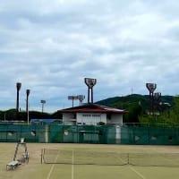 竹ヶ端テニスコート、コロナ後日常の風景が戻ってきた感じがする