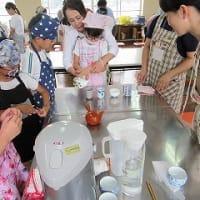 7月1日 御殿場南小学校で、日本茶教室