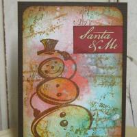 スタンプアートでクリスマスカード