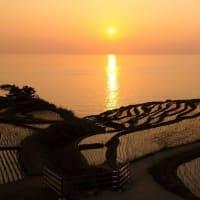 ●過去の画像から(能登) 見附島と小島 白米の千枚田(夕日) あぜのきらめき あぜの万燈など