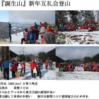 『誕生山』新年互礼会登山(2021.1.10)