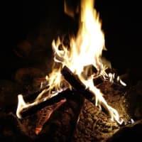 久し振りの焚火