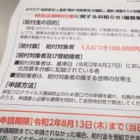 来た!来た!10万円の申請書