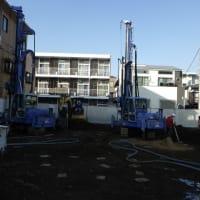 新社屋建設の経過報告(地盤改良工事)