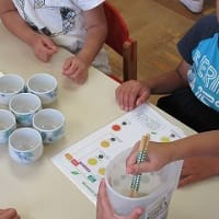9月3日 西保育園で、日本茶教室