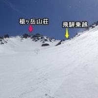 最新登山道情報(槍ヶ岳・飛騨沢ルート) 2021/04/24 更新
