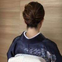 令和元年10月15日の出張着付は藤井寺市、七五三に行かれる訪問着の着付&ヘアセットでした。