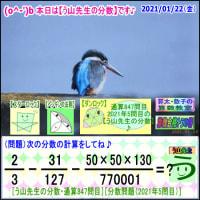 [う山先生・分数]【算数・数学】847問目【う山先生からの挑戦状】[2021年1月22日]