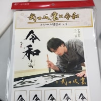 フレーム切手セット 武田双雲×令和