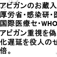 緊急事態宣言も2枚の寸足らずマスクもいらない。今すぐ、全患者にアビガンを出せ。まず、日本人を治療して全員を陰性にしろ。そのうえで、海外に提供して世界の民を救え。