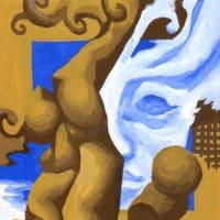 「サロン」展示14(アクリル画)