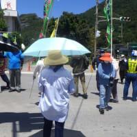 安和の琉球セメント桟橋での抗議行動と台風対策