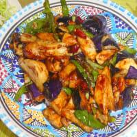 今晩のウチ飯オカズは・・・地三鮮(ディサンシェン)・・・野菜3種の炒めもの