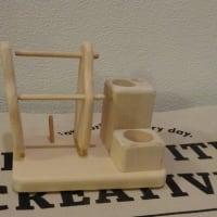 新作 糸巻きスタンド(3本)ツールボックスと針山プレートです。