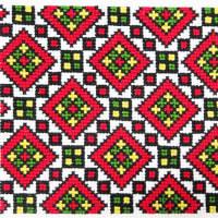 ウクライナ刺繍に多い色合わせです
