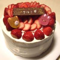イチゴのバースデーケーキ