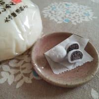 樹脂粘土で大福と豆大福作りました。