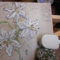 カサブランカの3つ目の花のモザイク
