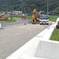 日高町志賀、県道柏御坊線改良工事進む 〈2021年6月4日〉