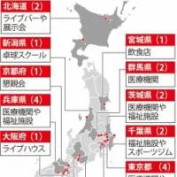 14都道府県26カ所でクラスター発生 東京・兵庫が最多4カ所 厚労省公表 毎日新聞2020年04月02日21時50分